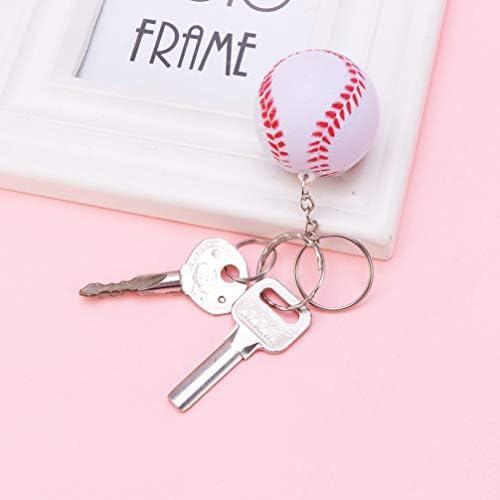 STOBOK Llaveros,softball,b/éisbol,decoraci/ón de temas,llaveros,llavero,colgante,llavero,decoraci/ón de fiestas,regalo negro.