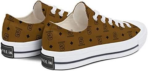 BOINN Womens Low Top Lace Up Skate Canvas Shoe Non Slip Limited Edition Clipper Go Easy Walking Sneakers