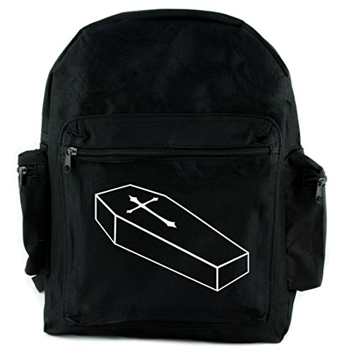 Cross Coffin - Voodoo Coffin with Gothic Cross Backpack School Bag Occult Alternative Clothing