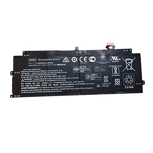 Hubei 7.7V 41.58Wh 5400mAh AH04XL Laptop Battery Replacement for Hp Spectre X2 12-C000NF TPN-Q184 Series Notebook 902500-855 902402-2C2 HSTNN-DB7S