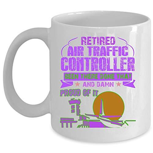 Mug, Retired Air Traffic Controller Cup (Coffee Mug 11 Oz - WHITE) ()
