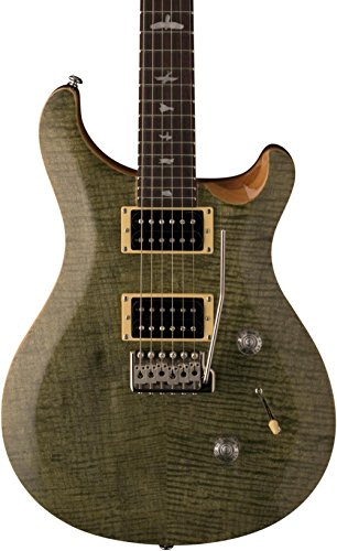 - PRS 6 String SE Custom 24 Electric Guitar, Trampas Green, Right Handed, (CM4TG2)