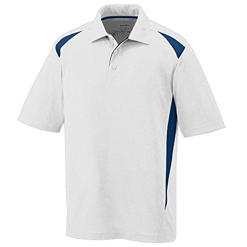 Augusta Sportswear Mens Premier Sport Polo Shirt-White/Navy-XL