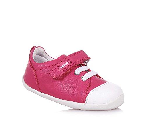 BOBUX - Pink Step Up Schuh aus Leder, made in New Zealand, mit Klettverschluss, elastische Schnürsenkel, Baby Mädchen