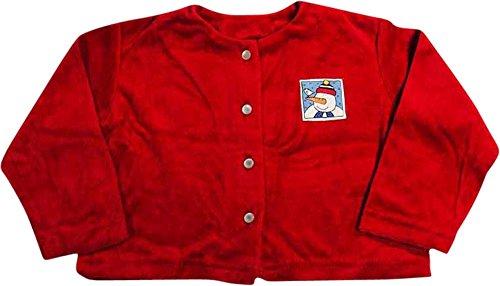- Mulberribush - Little Girls' Velour Cardigan, Red 8033-4