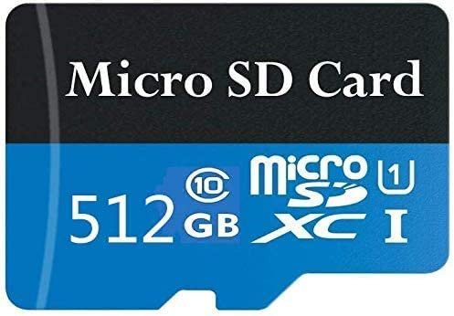 512gb-a Tablet and PCs Micro SD Card 512GB High Speed Class 10 Memory SDXC Card with Adapter for Phone