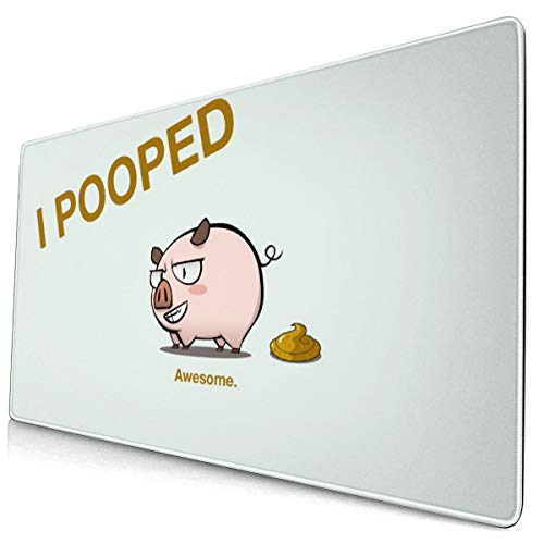 (Cheers Up Pig I Pooped Mousepad Non-Slip Rubber Gaming Mouse Pad Rectangle Mouse Pads for Computers Laptop 15.8x29.5)