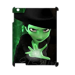 Custom iPad2,3,4 Case, Zyoux DIY Unique 3D iPad2,3,4 Phone Case - Elsa & Elphaba