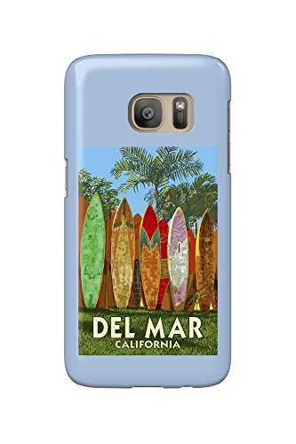 Del Mar, California - Surfboard Fence (Galaxy S7 Cell Phone Case, Slim Barely - Mar California