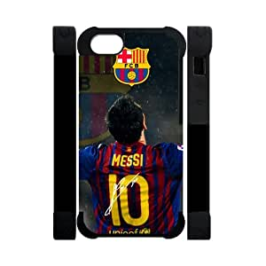 meilz aiaiFC Barcelona Lionel Messi iPhone 5 Cell Phone Cases Cover Popular Gifts(Dual protective)meilz aiai