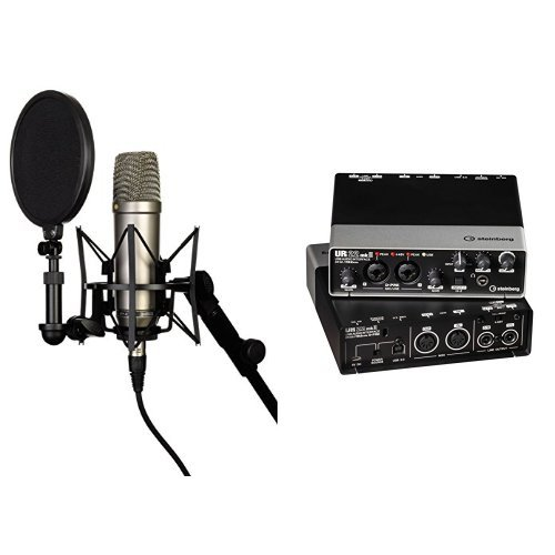 Rode NT-1A  Großmembran-Kondensatormikrofon + Steinberg UR22 MKII USB Audio Interface