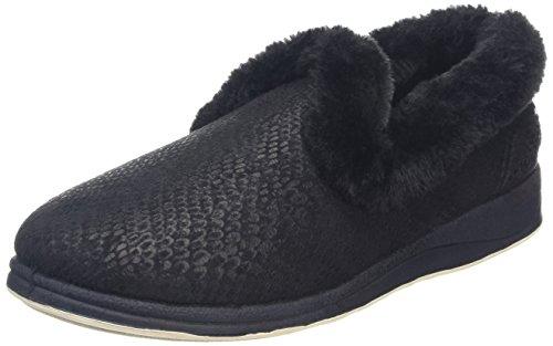 Luxe Slipper Voor Dames Padding (404/30) Zwart