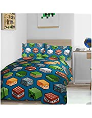 Minecraft (Special Teddy Fleece Material) Double Bed Duvet Cover Set