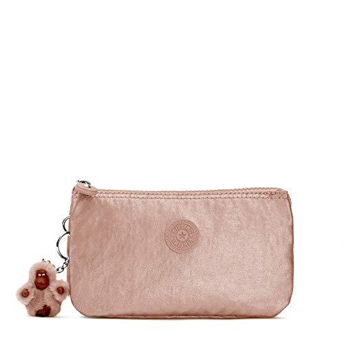 Kipling Creativity Large Metallic Pouch One Size Rose Gold Metallic