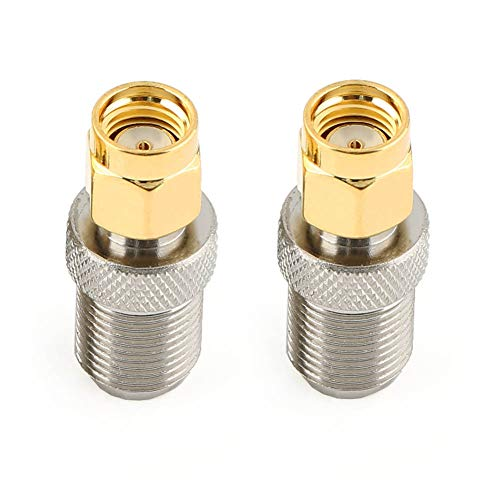 DHT Electronics 2PCS RF coaxial coax adapter RP-SMA male to F female