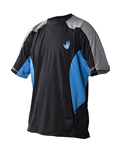 Body Glove Men's Performance Loose Fit Short Sleeve Shirt, Empire Blue/Black, Medium ()