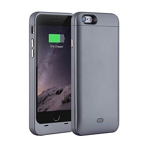 [Apple MFI Certified] Xcomm iPhone 6 Battery Charger Case - 3200mAh Protective Rechargeable Backup External Battery Charger Charging Case Cover for iPhone 6 4.7 Inch, BLACK