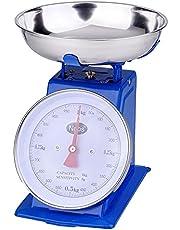 ميزان مطبخ ميكانيكي بوعاء ستانلس ستيل من مور M-SCK10، 10 كجم - ازرق