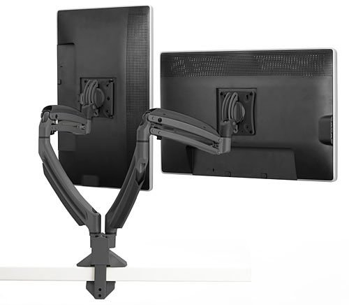 K1220D Dual Display Swingarm Mount / Stand For Mounting 2 LCD Monitors up to 30