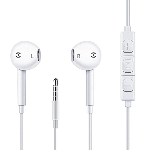 Earbuds,Earphones,Headphones,HaRuion In Ear Earbuds,In The Ear Earphones Wired with Mic/Remote Control for Apple Iphone 6S Plus/Samsung Galaxy S9 8/Huawei/Blackberry Mobile Tablet Music Players by HaRuion (Image #2)
