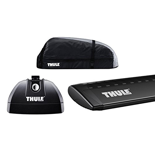 THULE(スーリー) BMW X3専用ベースキャリアセット(フット753+ウイングバー969B+キット4023)+ルーフボックス レンジャー90 F25 ダイレクトルーフレール付き 2011~2017 B01N29V334
