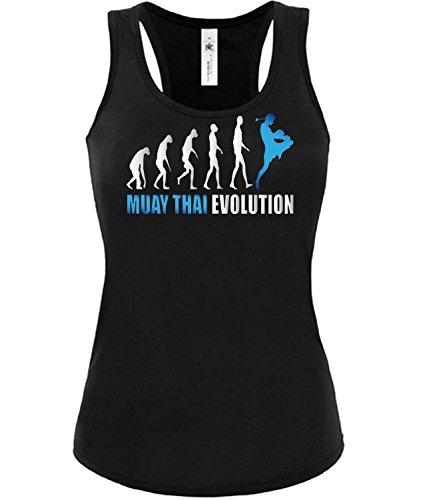 MUAY THAI EVOLUTION mujer camiseta Tamaño S to XXL varios colores S-XL Negro / Azul