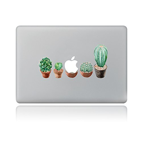 H4S Removable Decorative PVC MacBook Decals Skin Stickers Mac Cover Decals for Apple MacBook Pro Air Retina13 Inches A1278 A1369 A1466 A1304 A1425 A1502, Cacti Pattern