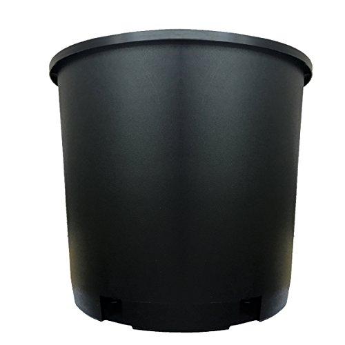 5 gallon black plastic pots - 4