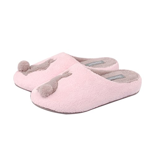 Kenabes Carino Coniglio Inverno Morbido Lavabile Pantofole Casa Delle Donne Rosa