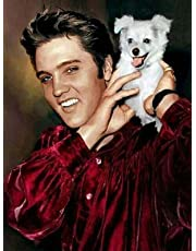 DIY 5D Diamond Painting by Number Kits, Full Drill Crystal Rhinestone Embroidery Pictures Arts Craft for Home Wall Decor Gift - Elvis Presley 12x16inch