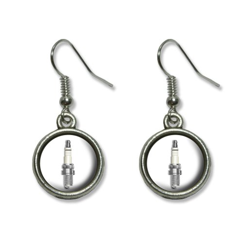 Spark Plug Costume (Spark Plug - Car Engine Motor Novelty Dangling Dangle Drop Charm Earrings)
