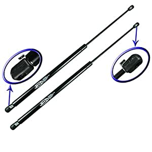 Two Rear Glass Gas Charged Lift Supports For Back Window For 1987-1995 Jeep Wrangler With Factory Hardtop. WGS-211-2
