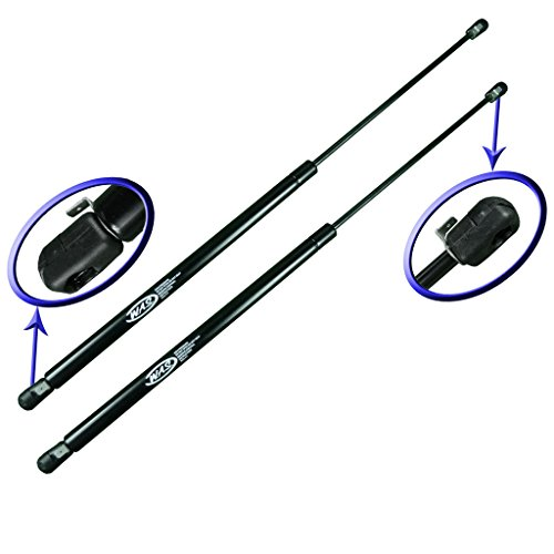 Two Rear Glass Gas Charged Lift Supports For Back Window For 1987-1995 Jeep Wrangler With Factory Hardtop. WGS-211-2 ()