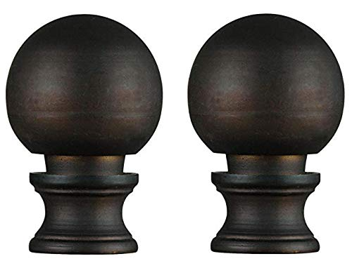 Westinghouse 7000500 Oil Rubbed Bronze Finish Ball Lamp Finial (2-Pack)