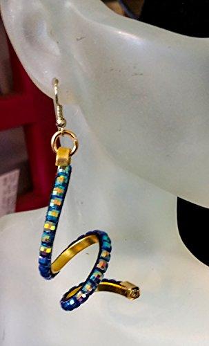 Gold-Blue Resin Rhinestone Spiral (Spiral Resin)
