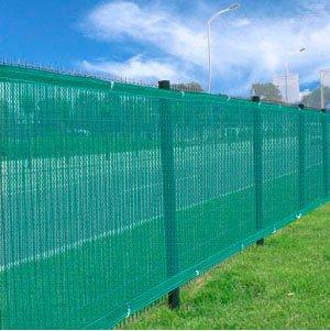 Lovely TWO Heavy Duty Green 6u0027x 50u0027 Privacy Screen Mesh Fence Windscreen Fabric  Construction