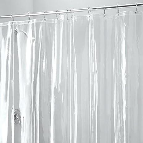 MDesign PEVA 10 Gauge Heavy Duty Shower Curtain Liner Mildew Free