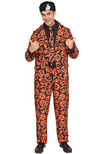Fun World Men's Licensed Saturday Night Live David S. Pumpkins, Orange, STD. Up to 6' / 200 lbs. ()