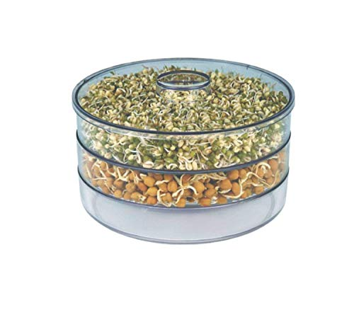 YOi Plastic Sprout Maker With Container (multisize) White (3bowl)