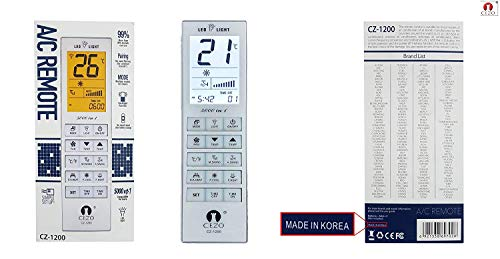 CEZO Air Condtioner Remote AC Control - Universal Conditioning Controller 1000 in 1 for Mitsubishi Toshiba Hitachi Fujitsu Daewoo LG Sharp Samsung Electrolux Sanyo