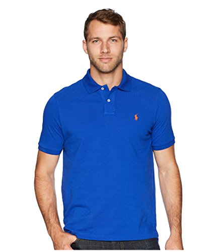 Polo Ralph Lauren Classic Fit Mesh Pony Logo Polo Shirt (XXL, RugbyRoyal) (Best Price Embroidered Polo Shirts)