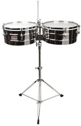 Rhythm Tech RT 5345  Timbales-Chrome w/ Stand by Rhythm Tech