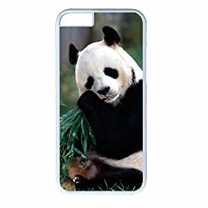 Hard Back Cover Case for iphone 6,Cool Fashion White PC Shell Skin for iphone 6 with Funny Panda