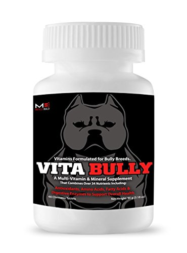 Vita Bully Supplement for Bully Breeds: Pit Bulls, American Bullies, Exotic Bullies, Bulldogs, Pocket Bullies (60 Tablets) by Muscle Bully