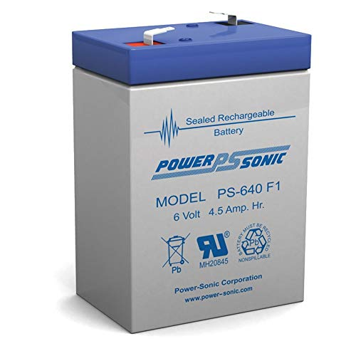 Powersonic 6V 4.5Ah PS-640, PS640F1, UB645 Replacement SLA Battery NEW!