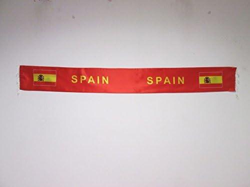 AZ FLAG Bufanda de España para hinchas - Bufandas de Raso española 150 cm: Amazon.es: Jardín