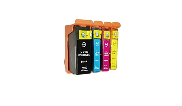 S605 4 Black 2 Cyan 2 Magenta 2 Yellow Pro705 Inkcool Compatible Lexmark 100XL 100 XL High Capacity Ink Cartridges for Lexmark S305 S405 Pro705 Pro905 10 pack Pro805 S505 Pro205 Printers