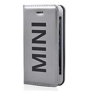 Mini MINI0021 funda tipo libro para iPhone 5/5S plateado vinilo