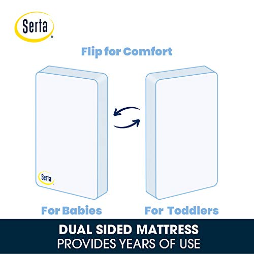 41A0uTgsZzL - Serta Perfect Start Fiber Core Crib And Toddler Mattress Waterproof Lightweight GREENGUARD Gold Certified (Natural/Non-Toxic)