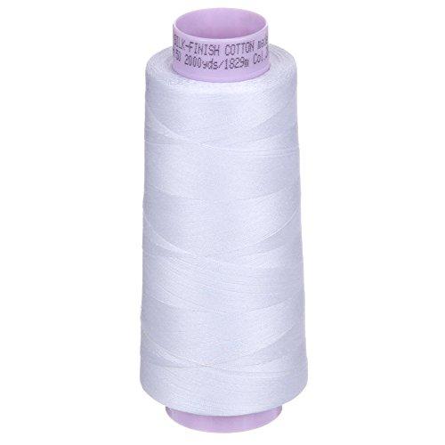 Mettler Silk-Finish Cotton Thread, 2000 yd/1829m, White